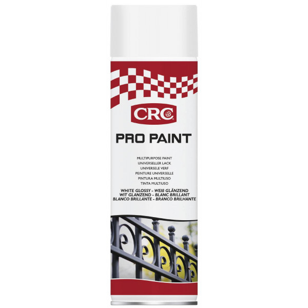 PAINT WHITE GLOSSY SPRAY 500ML, Crc #266890904