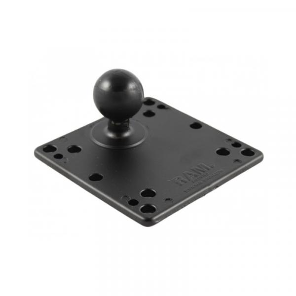 Square Base with VESA Hole Patterns & Ball -, RAM Mounts #