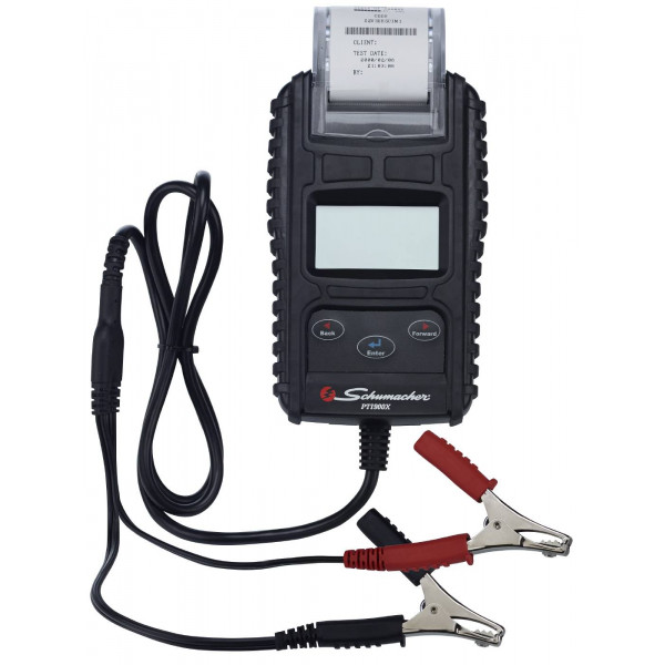 Battery tester with printer image